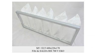 Filtr kieszeniowy EU5 do SALDA RIS 700 V EKO (600x228x170)