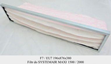 Filtr EU7 do SYSTEMAIR MAXI 1500 / 2000 BFM 1500/2000 (196x876x380)