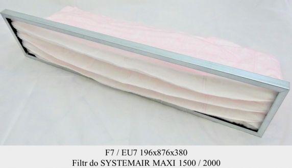 Filtr EU7 do SYSTEMAIR MAXI 1500 / 2000 EL / HW (196x876x380)