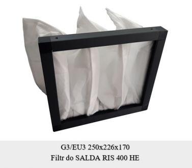 Filtr EU3 do SALDA RIS 400 (250x226x170)