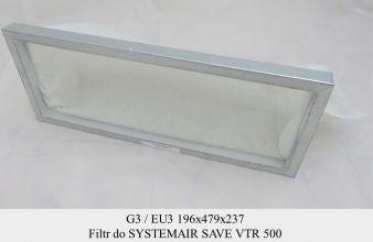 Filtr EU3 do SystemAir SAVE VTR 500 (196x479x237)