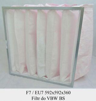 Filtr kieszeniowy F7 do VBW BS (592x592x360)