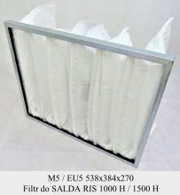 Filtr kieszeniowy EU5 do SALDA RIS 1000 i RIS 1500 (538x384x270)