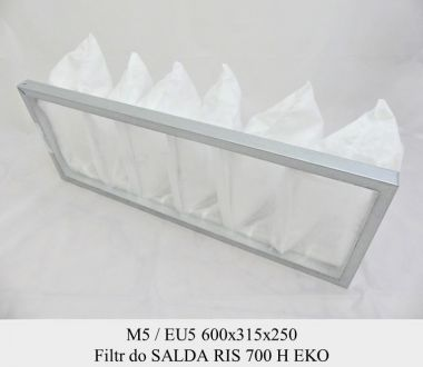 Filtr EU5 do SALDA RIS 700 H EKO (600x315x250)