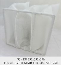 Filtr EU5 do SYSTEMAIR FFR 315 / VBF 250 (332x332x350)