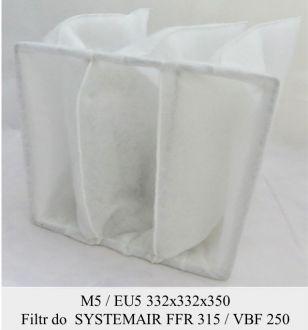 Filtr kieszeniowy EU5 do SYSTEMAIR FFR 315 / VBF 250 (332x332x350)