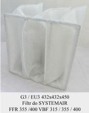 Filtr EU3 do SYSTEMAIR FFR 355 / FFR 400 / VBF 315 / VBF 355 / VBF 400 (432x432x450)