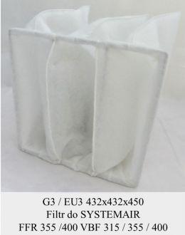 Filtr kieszeniowy EU3 do SYSTEMAIR FFR 355 / FFR 400 / VBF 315 / VBF 355 / VBF 400 (432x432x450)
