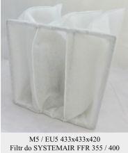 Filtr EU5 do SYSTEMAIR FFR 355 / FFR 400 (433x433x420)