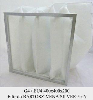 Filtr EU4  do BARTOSZ CNWB 5.0/20, 6.0/20 ST/EC , Vena Silver 5 ST/EC, 6 ST/EC (400x400x200)
