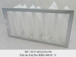 Filtr kieszeniowy EU5 do SALDA RIRS 400 H, V 3.0 (445x225x150)