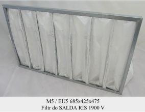 Filtr kieszeniowy EU5 do SALDA RIS 1900 V (685x425x475)