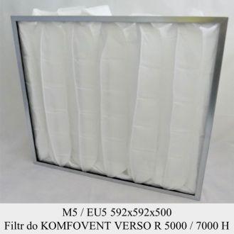 Filtr EU5 do KOMFOVENT VERSO R 5000 H VERSO R 7000 H (592x592x500)