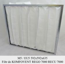 Filtr do  KOMFOVENT KOMPAKT REGO 7000, RECU 7000 (592x592x635)