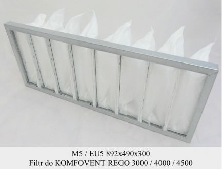 Filtr EU5 do KOMFOVENT KOMPAKT REGO 3000 / 4000 / 4500 (892x490x300)