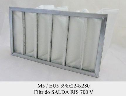 Filtr kieszeniowy EU5 do SALDA RIS 700 V (398x224x280)