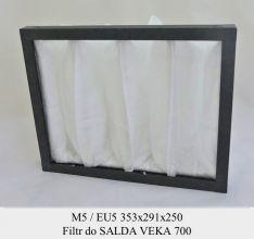 Filtr EU5 do SALDA VEKA 700 (353x291x250)