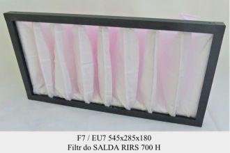 Filtr kieszeniowy EU7 do SALDA RIRS 700 H (545x285x180)