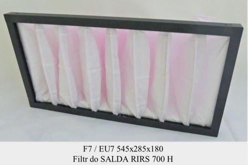 Filtr kieszeniowy EU5 do SALDA RIRS 700 HE/HW (545x285x180)