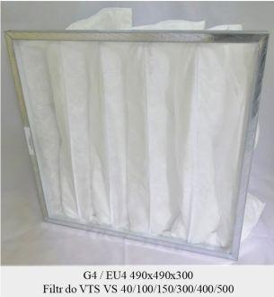 Filtr EU4 do VTS VS 40/100/150/300/400/500 (490x490x300)