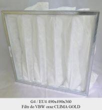 Filtr EU4 do VTS VS40, VS 100, VS 150, VS 300, VS 400, VS 500 (490x490x300)