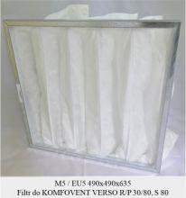 Filtr EU5 do KOMFOVENT VERSO R/P 30, VERSO R/P 80 oraz VERSO S 80 (490x490x635)