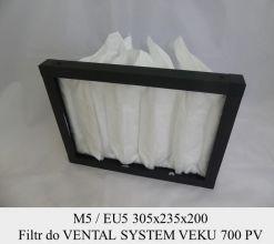 Filtr EU5 do VENTAL SYSTEM VEKU 700 PV (305x235x200)