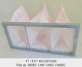 Filtr kieszeniowy do centrali HERU 130 S, HERU 130 S 2, Heru 130 S EC (462x207x260)