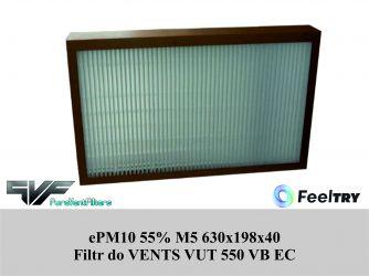 Filtr EU5 do VENTS VUT 550 VB EC (630x198x40) ePM10 55%