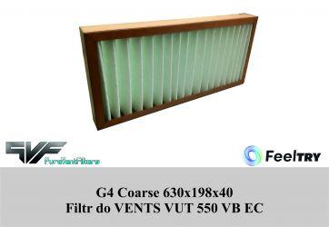 Filtr EU4 do VENTS VUT 550 VB EC (630x198x40) Coarse